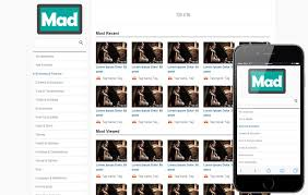 Mad Free Video Sharing Mobile Website Template