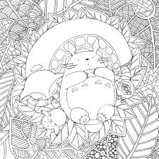 Small Picture Doodles and totoro part 2 Totoro Colouring and Colouring in