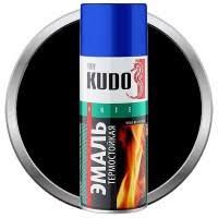 <b>Эмаль</b> аэрозольная <b>термостойкая Kudo</b> KU-5002 черная 520 мл ...