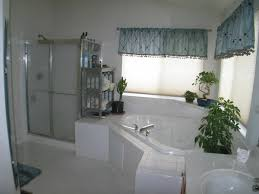 Bathroom  Contemporary Bathroom Jacuzzi Idea With Fireplaces - Bathroom with jacuzzi and shower