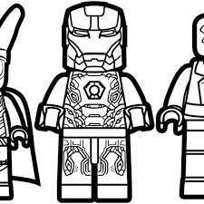 Lego Avengers Coloring Pages With Lego Marvel Coloring Pages With
