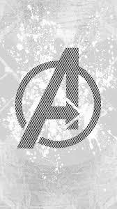 Avengers Logo Art Hero White Wallpaper Hd Iphone Avengers