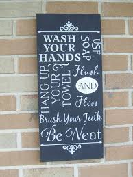 Decorative Bathroom Signs Home Bathroom Wall Decor Signs Ideas Pinterest Bathroom Wall 45