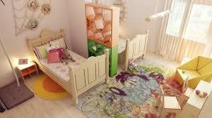 Kids Room Divider Ideas Shared Childrens Idea Interior Design On Nice ...