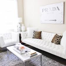 Leopard Print Living Room Decor Blondie In The City Home Decor White Tufted Couch Leopard