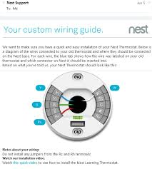 nest your custom wiring diagram guide customer service in nest wiring diagram for nest thermostat gen 2 at Wiring Diagram For Nest Thermostat