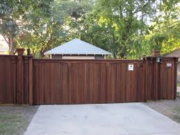 fence gate. Decorative-Arch-Vertical-Board-Batten-Fence-Automatic-Sliding-Gate_01 Fence Gate