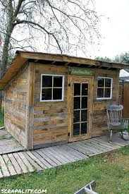pallet shed. garden shed with natural light pallet e