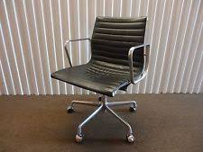 eames management chair. Herman Miller Eames Aluminum Group Management Chair In Black Leather 50 Years An