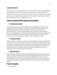 Short Business Report Sample Report Writing Template