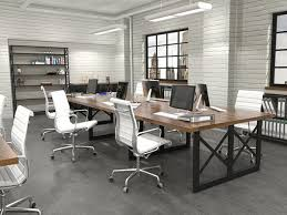 modern industrial office design. the unique carruca benching design is a powerful modern industrial perfect alternative to office