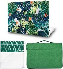 Buy KECC Laptop Case Compatible with MacBook Air 13 w/Keyboard Cover + Sleeve  Bag + Screen Protector (4 in 1 Bundle) Plastic Hard Shell Case A1466/A1369  (Palm Leaves Lilies) Online in Indonesia. B08FBW4PXP