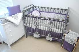 purple and gray crib bedding grey set damask baby