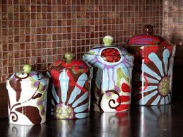 Gift For Kitchen Kitchen Canisters Boho Decor Ceramic Canister Set Pottery