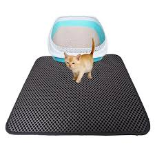 <b>1pcs Double Layer</b> Waterproof Cat Litter Mat High Elasticity EVA ...