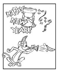Small Picture Cute Monkey on New Years Eve Celebration on 2015 New Year Coloring