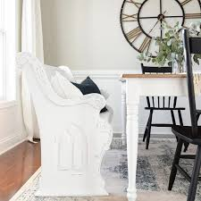 magnolia home distressed ivory pew bench 449 vs kirkland s distressed ivory pew bench 160 modern farmhouse