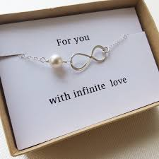 Infinity Bracelet - LOVE - Holiday Gift - Infinity Jewelry - Card - Christmas  Gift,