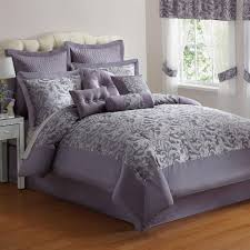 New For The Bedroom Elegant 10 Pc Purple Silver Jacquard King Size Comforter Bed Set