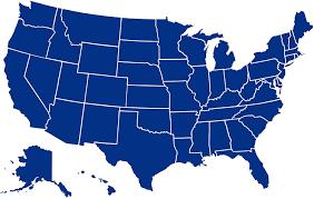 VWAQ United States of America Map Decal ...