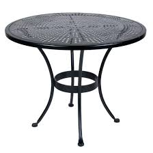 36 cast aluminum patio table high outdoor inch round set and chairs kitchen remarkable ow lee bistro r