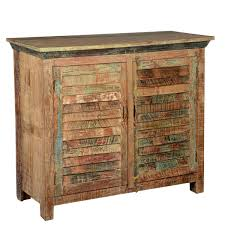 Barn Wood Kitchen Cabinets Distressed Reclaimed Wood Buffet 2 Door Kitchen Storage Accent