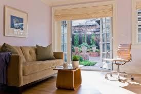 sliding glass door roman shades