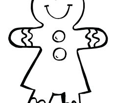 Gingerbread Coloring Page Gyerekpalotainfo