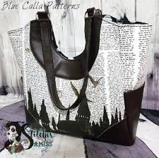 Tote Bag Sewing Pattern Mesmerizing The Trillium Tote Bag PDF Sewing Pattern Blue Calla Patterns