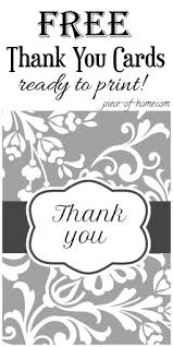 Thank You Black And White Printable Thank You Cards Printable Piece Of Home