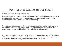 a cause and effect essay cause and effect paper layout effect  a