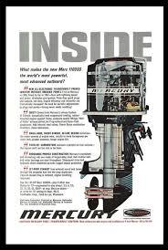 Mercury Outboard Fuel Mixture Chart Mercury Merc 1100ss Outboard Motor Cutaway Diagram 1967
