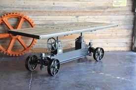 industrial furniture wheels. Train Table Wood Industrial Furniture Wheels