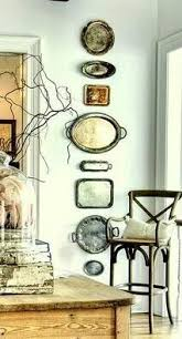 Decorating With Silver Trays how to hang platters on the wall Walls Room and Decorating 18