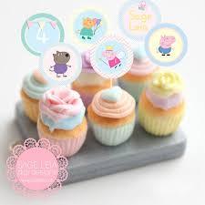 Custom Printable Peppa Pig Themed Girl Pastel Party Birthday