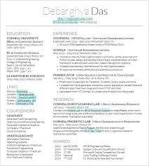 Resume Template For Latex Latex Resume Templates Project Scope