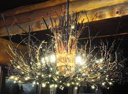 image of outdoor led candle chandelier