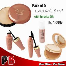 lakme 9 to 5 s matte plexion pact pan cake face stylist foundation eye liner maa