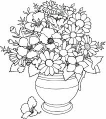 Mothers Day Flowers Coloring Pages Free Large Images More Pages