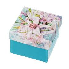 Decorative Jewelry Gift Boxes Decorative Jewellery Gift Box Turquoise With Lily Imprint 19