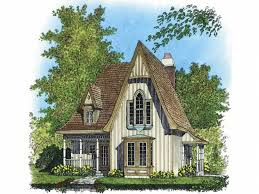 Small Victorian Cottage House Plans Gothic Revival  Building Victorian Cottage Plans