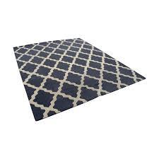 nuloom nuloom hand hooked alexa moroccan trellis petit point wool navy rug