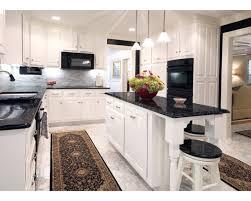 White Kitchen Cabinets Black Granite Countertops Mixiokitchen