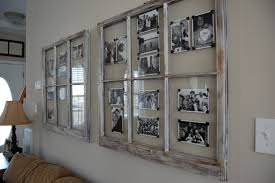 Old Window Frame Projects Window Picture Frame Ideas Turn Old Window Into Photo Art Wall