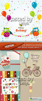 birthday postcard template stock vector happy birthday postcard template 17 free download