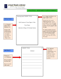 Apa Style Reseach Paper Apa Style Research Paper Format