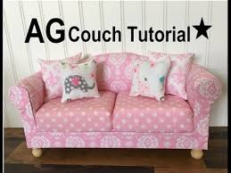 American Girl Doll Couch and Chair Tutorial DIY How to Make