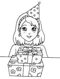 Birthday Hat Coloring Page Printable Hat Coloring Pages For Kids