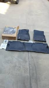 Husky weatherbeater black floor mats front and back used for sale ...