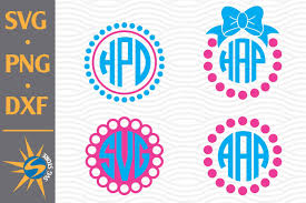 Animating the stroke of an svg is perfect for simulating handwriting. Dot Circle Monogram Svg Png Dxf Digital Files Include 687347 Cut Files Design Bundles